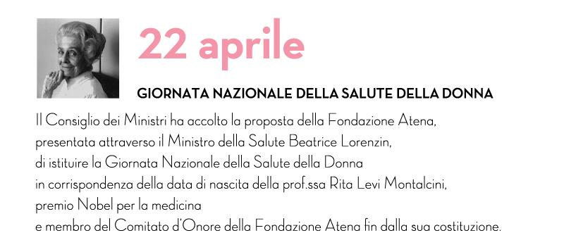 Oggi 22 aprile, giornata della Salute della donna.