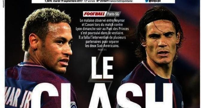 Neymar - Cavani alle mani, li divide Thiago Silva