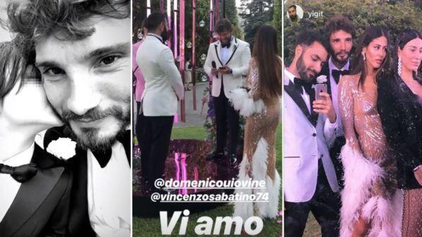 Stefano De Martino e Gilda Ambrosio a nozze sul lago di Como