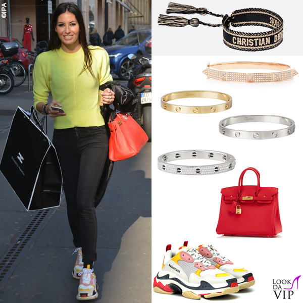 Elisabetta Gregoraci ,  look costosissimo per lo shopping con 70mila euro di bracciali