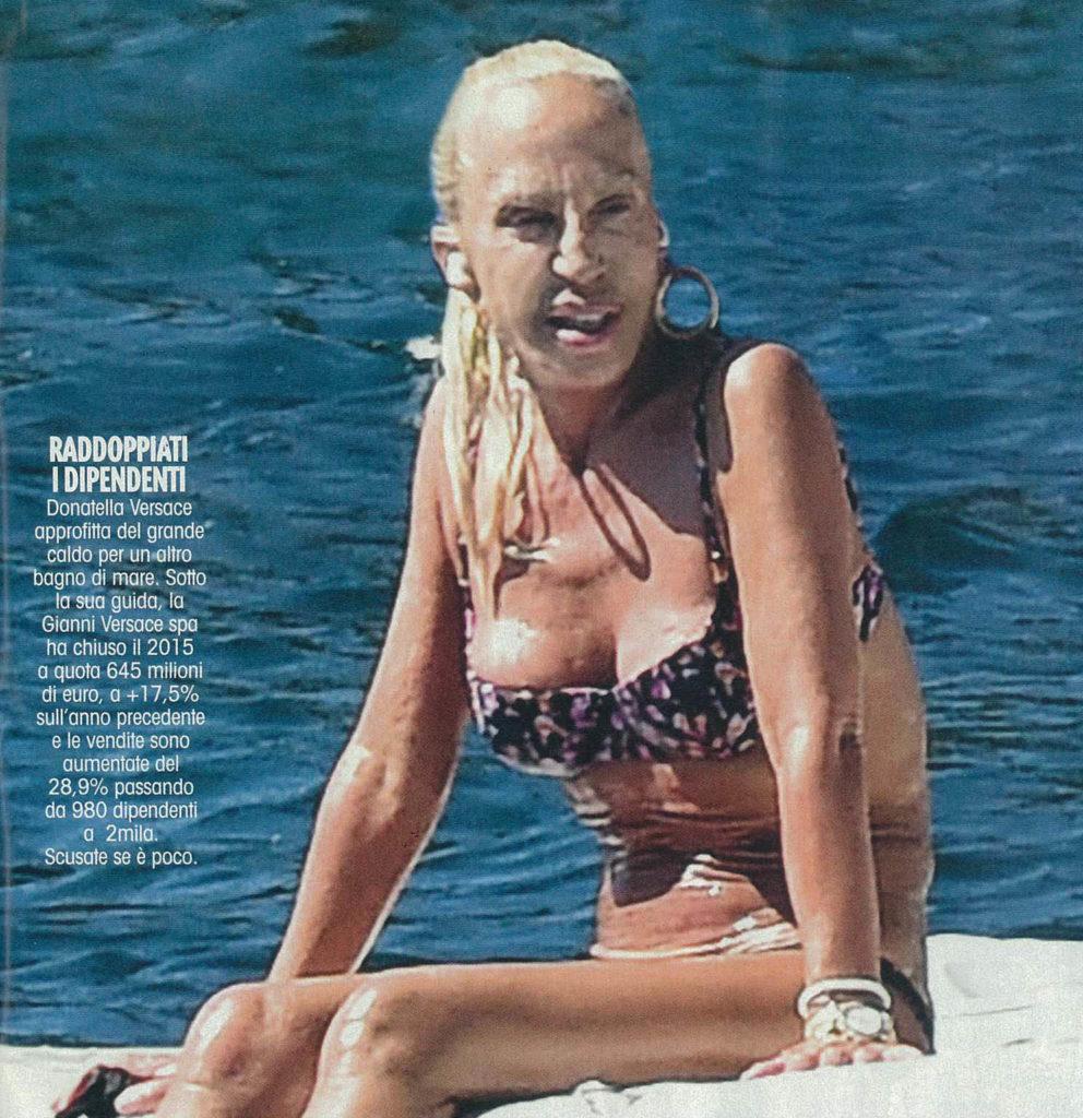 Donatella Versace struccata: esce fuori lo scatto sconvolgente