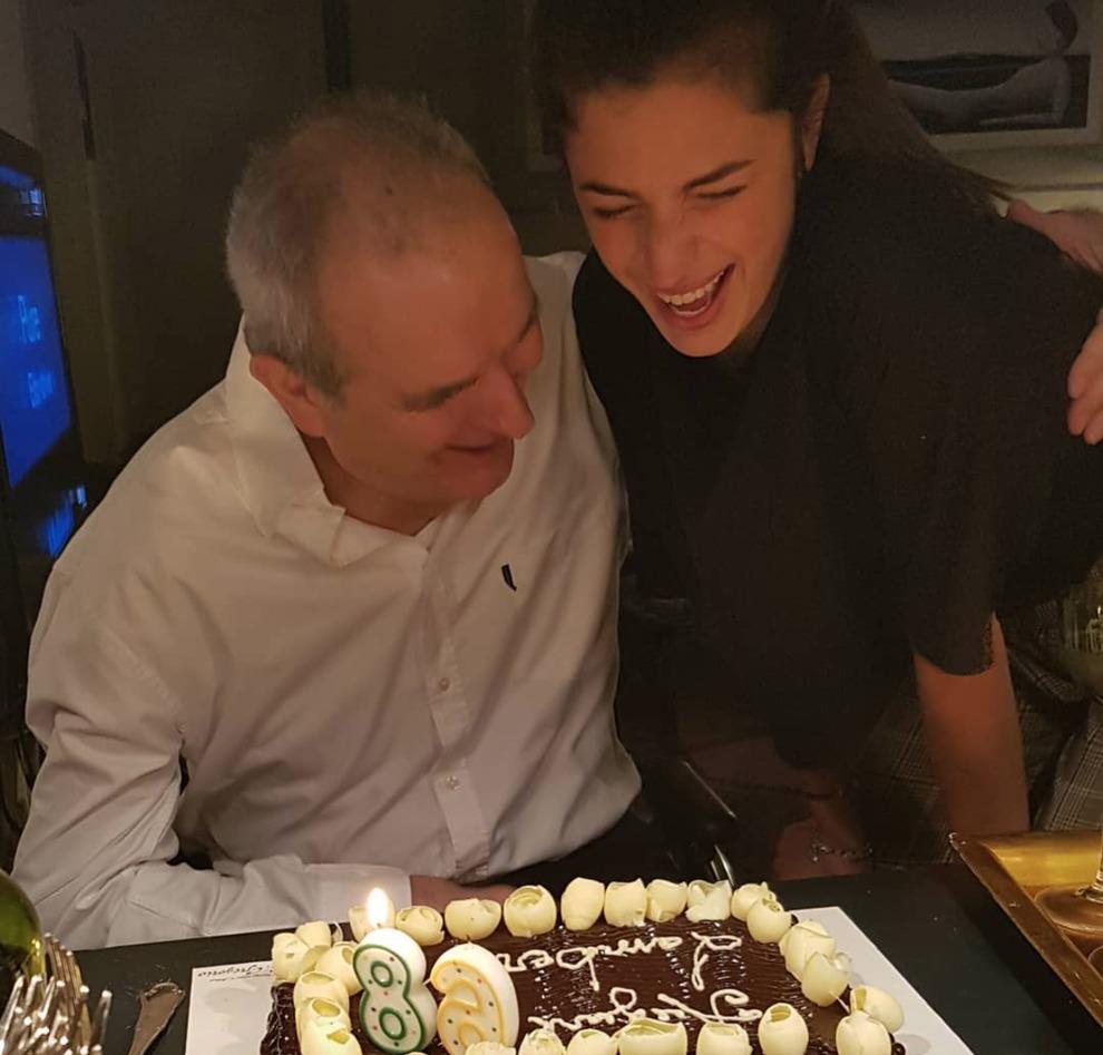 Lamberto Sposini, il sorriso per i suoi 68 anni: Mentana pubblica la foto con la figlia Matilde