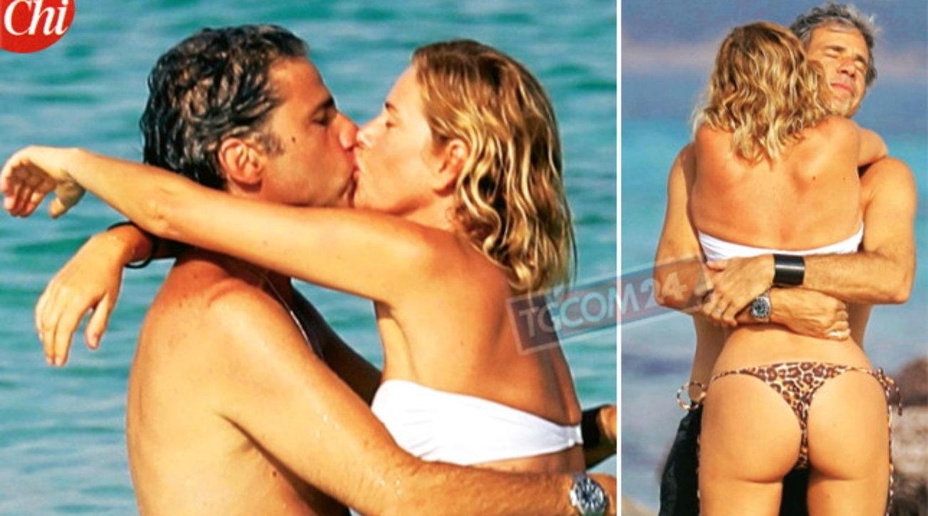 """Alessia Marcuzzi """"cozza� col marito al mare"""