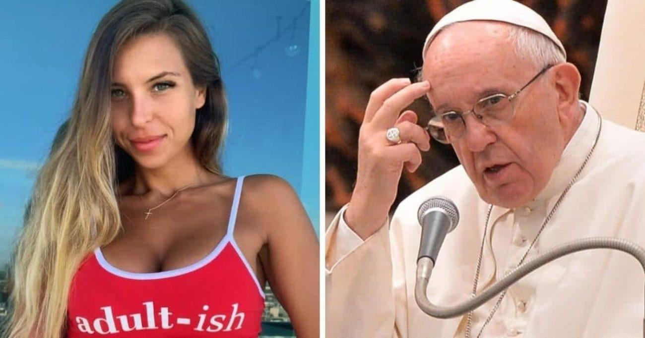 Natalia Garibotto, modella brasiliana a cui Papa Francesco ha messo like su Instagram