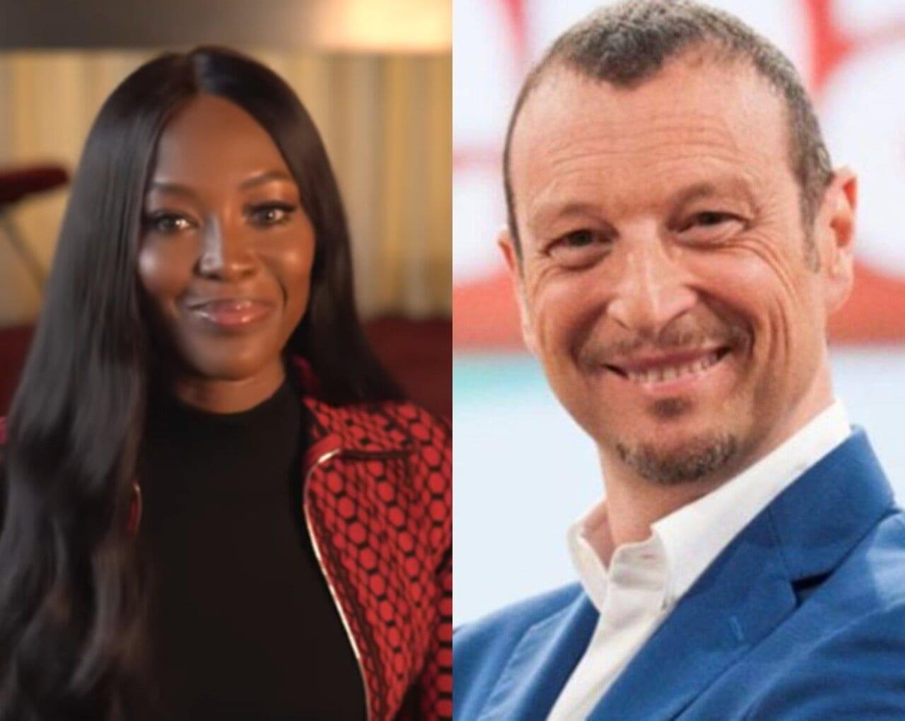 Naomi Campbell a Sanremo 2021 co-conduttrice della prima serata
