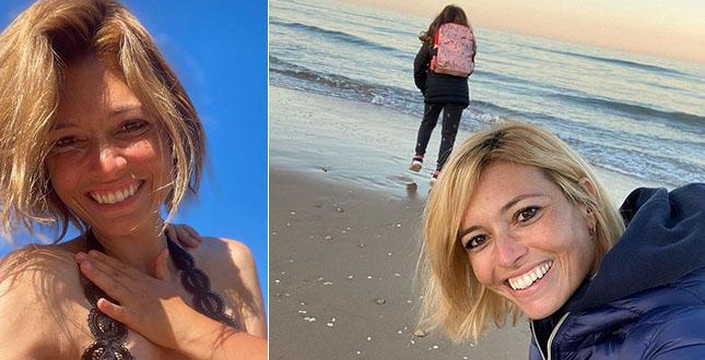 Carlotta Mantovan, il mare d'inverno con la figlia Stella è dolcissimo. E com'è cresciuta la bambina di Fabrizio Frizzi!