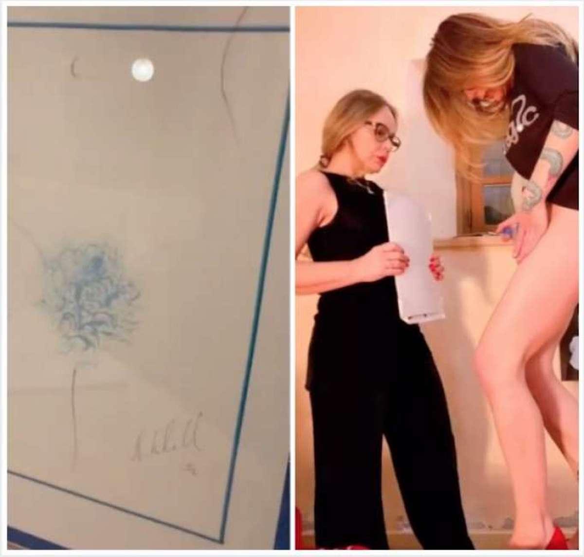 Dipinti intimi, Naike con la complicità di mamma Ornella Muti crea opere d'arte col pube