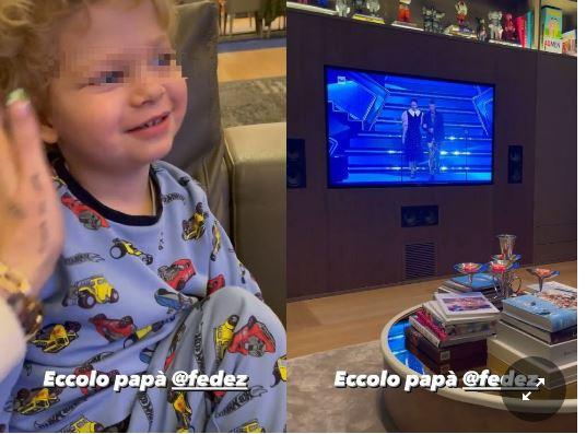 Chiara Ferragni, Leone guarda in tv il duetto di Fedez a Sanremo. La reazione del bimbo è incredibile: «Ma che dice?»