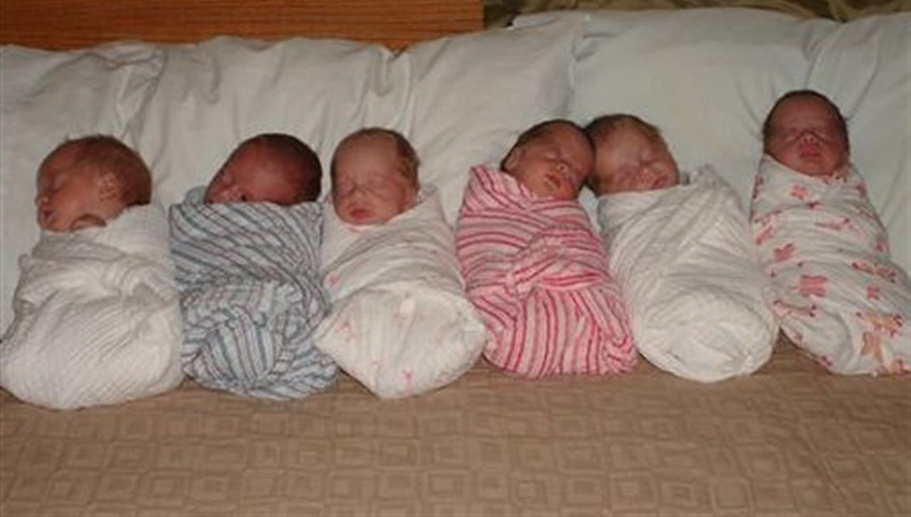 Partorisce sei gemelli, quattro femmine e due maschi: stanno tutti bene