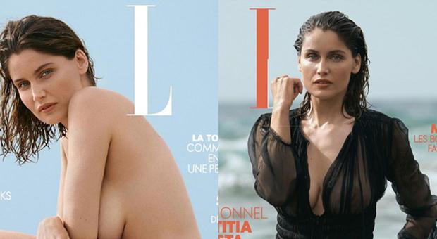 Laetizia Casta torna in copertina: bella e sexy come vent'anni fa