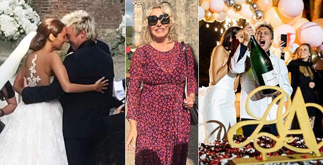 Andrea Mainardi, le foto delle nozze con Anna Tripoli. Antonella Clerici testimone: «Auguri amico mio»