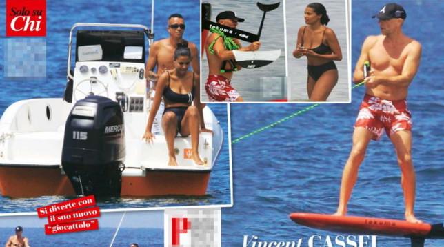Vincent Cassel e Tina Kunakey a Rio, passione bollente