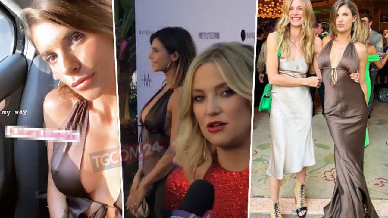 Elisabetta Canalis, capezzoli a vista tra le star di Hollywood