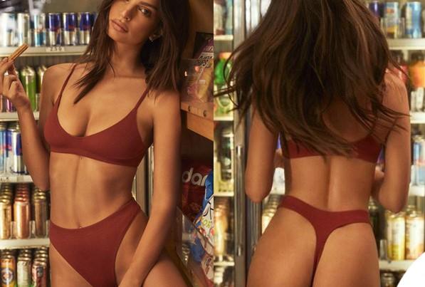 Emily Ratajkowski fa la spesa in bikini