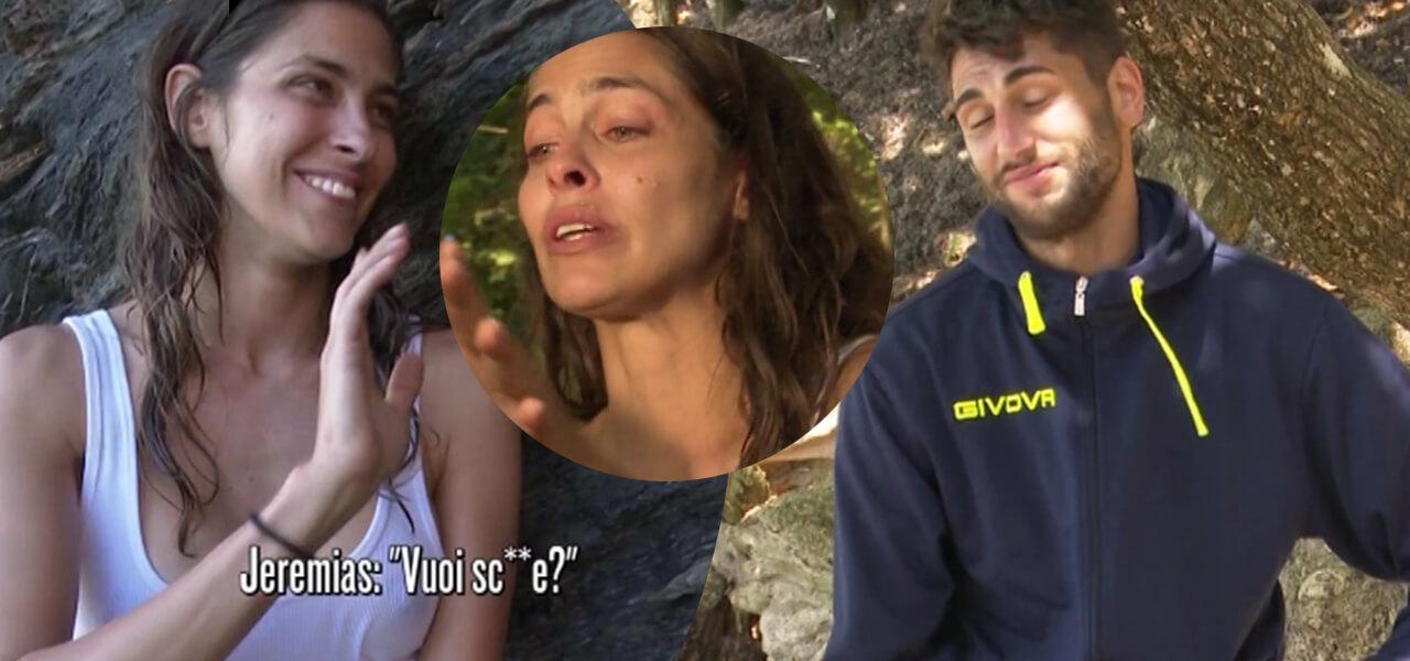 Isola dei Famosi 2019. «Vuoi scop...e?», Jeremias e la strana richiesta ad Ariadna che piange