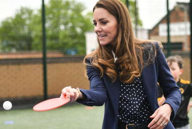 Kate Middleton gioca a ping pong per ore. Parola di William