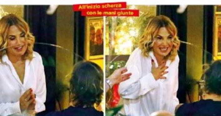 Barbara D'Urso, alta tensione nel locale a Milano: lite col fidanzato