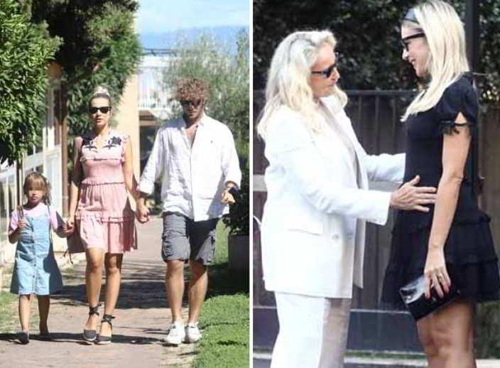 Clizia Incorvaia incinta con la figlia Nina e Paolo Ciavarro sono già una famiglia allargata