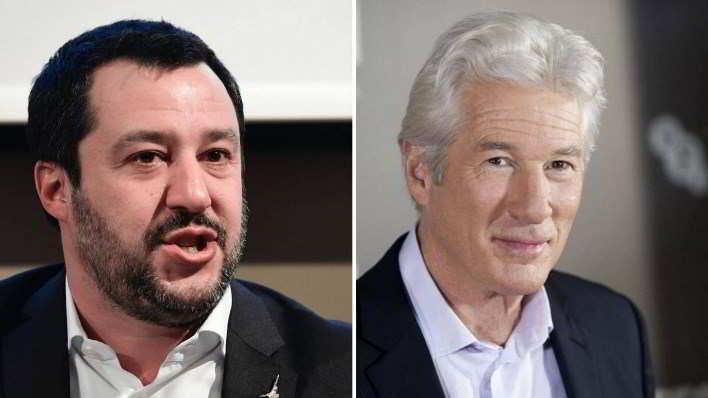 Richard Gere testimonierà contro Matteo Salvini in tribunale