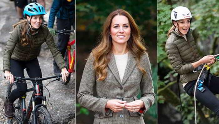 Kate Middleton scatenata: dalla mountain bike all'arrampicata