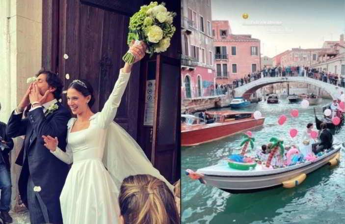 A Venezia le nozze di Vera Arrivabene, figlia della principessa Bianca di Savoia