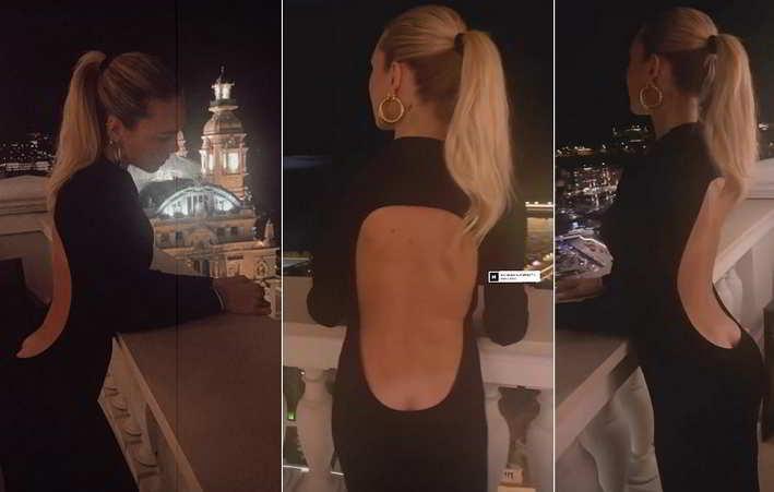 Ilary Blasi mostra ai follower un panorama sexy in terrazza